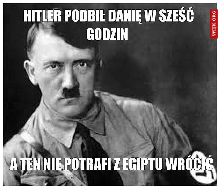 Hitler podbił Danię w sześć godzin